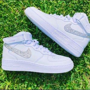BLINGED OUT AIR FORCE 1 MIDS CUSTOM